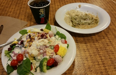 Pizza Pie Cafe - Bountiful, UT. Salad and pasta at Pizza Pie Cafe.