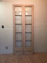 Custom wood custom double French doors