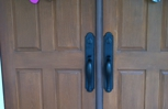Residential Double Door with Handleset
