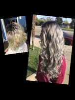 Micro bead silver hair extensions