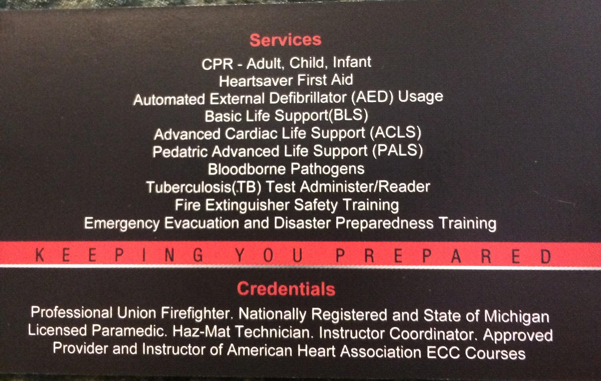 Emergency Medical Training Center Llc 10162 S Stoney Creek Rd
