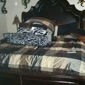 Kennedy Place Apartment and Duplex Homes - Edmond, OK. Bedroom big enough to fit a king size bed and still walk around.