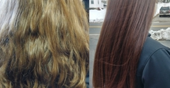 Janine's Beauty Works - North Andover, MA. Before and After Color and Brazilian Blowout...Special $125.00 for Brazilian Blowout