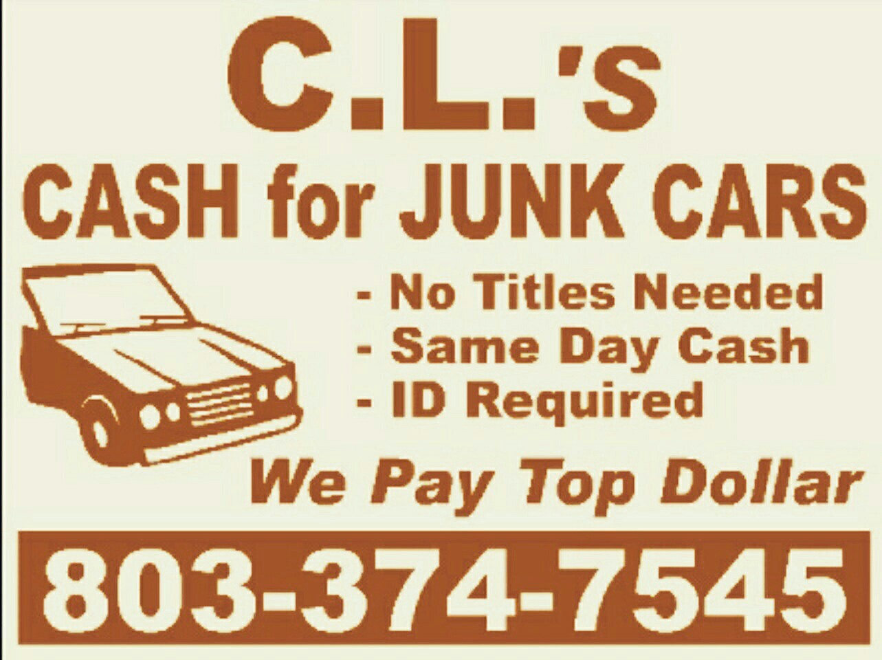 CL\'s Cash for Junk Cars Chester, SC 29706 - CLOSED - YP.com