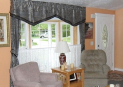 Indiana Window & Siding - Bloomington, IN. Inside our living room - beautiful bay window!