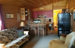 Cabin 1, large cabin with 2 Queen and 2 full size beds.