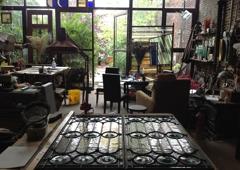 Feldman Stained Glass - Jersey City, NJ. Feldman Stained Glass main studio interior