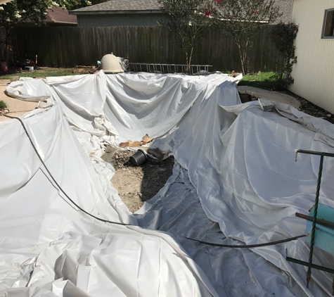 Doty Pool Destruction - Houston, TX. After Removal