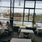 The Terrace Room At Lake Merritt Hotel - Oakland, CA. Our table on the left corner the view is gorgeous on a quiet Sunday for brunch.