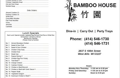Bamboo House Chinese Restaurant - Milwaukee, WI