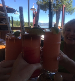 Gar Woods Grill & Pier On The Lake - Carnelian Bay, CA. Cheers!