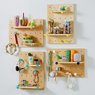 On the Pegboard and Shelves On the Pegboard and Shelves from The Land of Nod