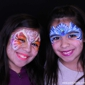 Paint 2 Smile. Two beautiful face painted princesses