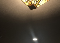Denton Absolute Electric - Denton, TX. After LED flush mount lights and re-hung mission light I had wired