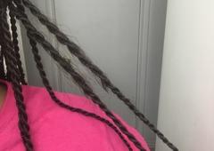 Diva's African Hair Braiding - San Antonio, TX. Someone else in the shop