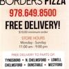 Borders Pizza