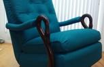 Antique Swan-Neck Arm Rocking Chair