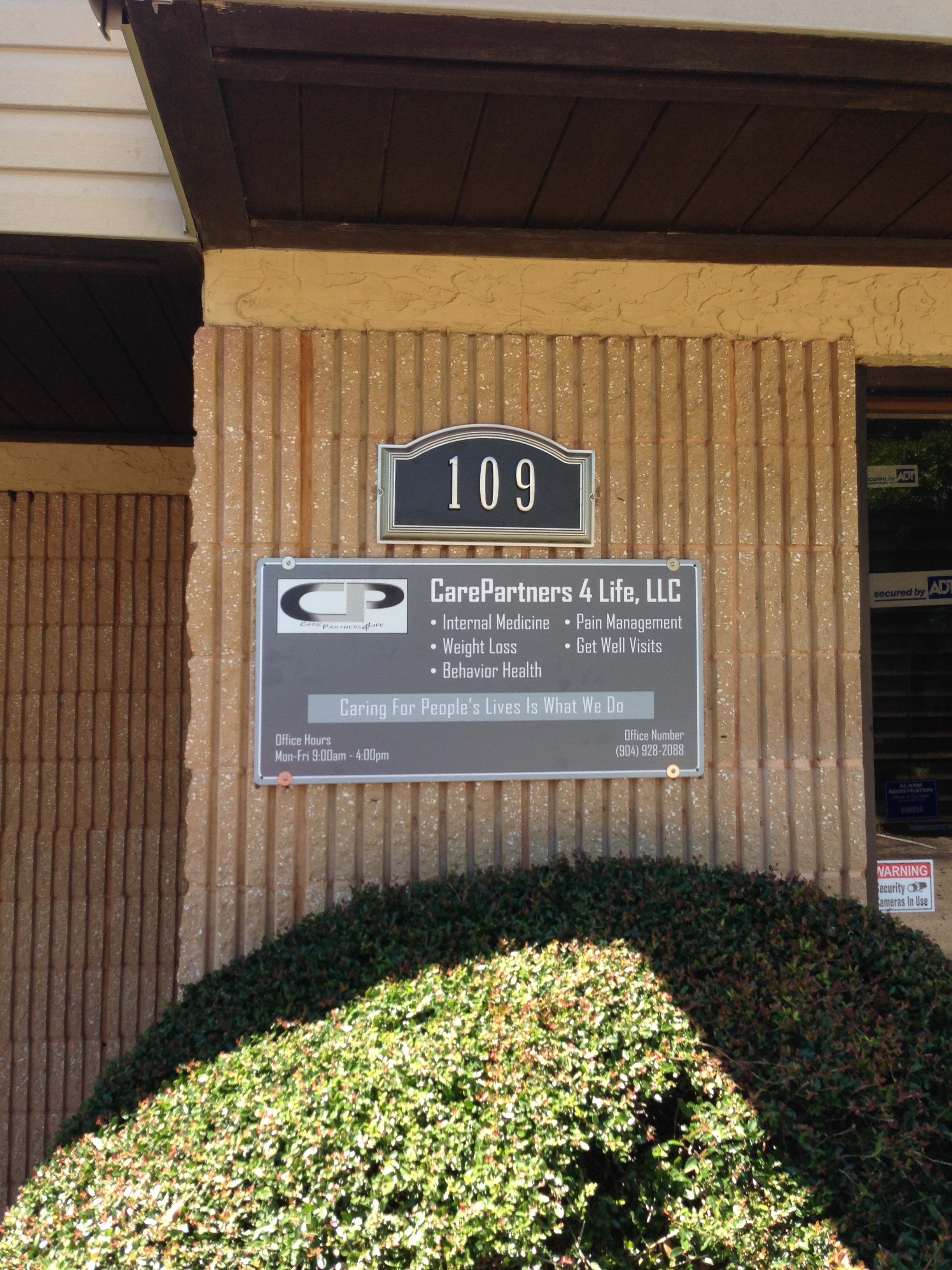 CarePartners 4 Life LLC 9770 Old Baymeadows Rd Ste 109 Jacksonville FL 32256