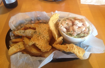 New Hamburger & Seafood Company - Metairie, LA. The thin catfish and shrimp remoulade special is worth the price