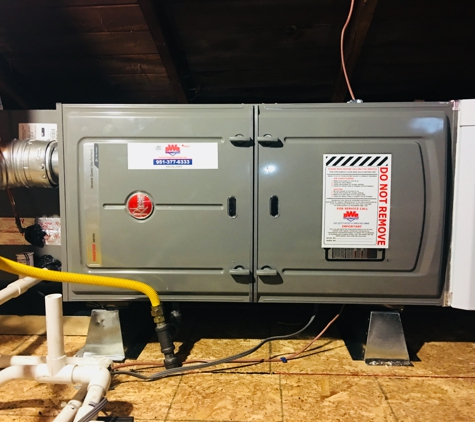 BWR Heating and Cooling Inc. - Norco, CA. Safety switch, iso pads, drip legs, and top notch sealing come standard with every installation.