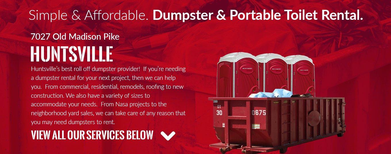 Dynamite Dumpsters 7027 Madison Blvd 108 Huntsville Al 35806