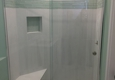 Looking Glass Company - Deerfield Beach, FL. Frameless shower enclosure with bypassing door