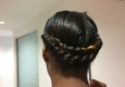 the color spot salon - Atlanta, GA. I caught my friend after she came from Huetiful. Gorgeous twist that look like a braid in the back! Beautiful!