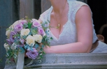 A gorgeous bride and her Taylor's bouquet