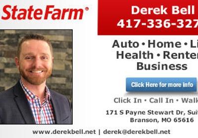 State Farm Derek Bell 171 S Payne Stewart Dr Ste 300 Branson Mo 65616 Yp Com