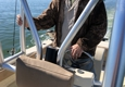 Lyons Charters - Saint Petersburg, FL. The Captain rescued a drowning osprey and saved his life!