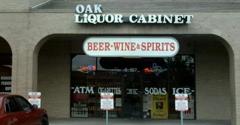 Oak Liquor Cabinet - Austin, TX