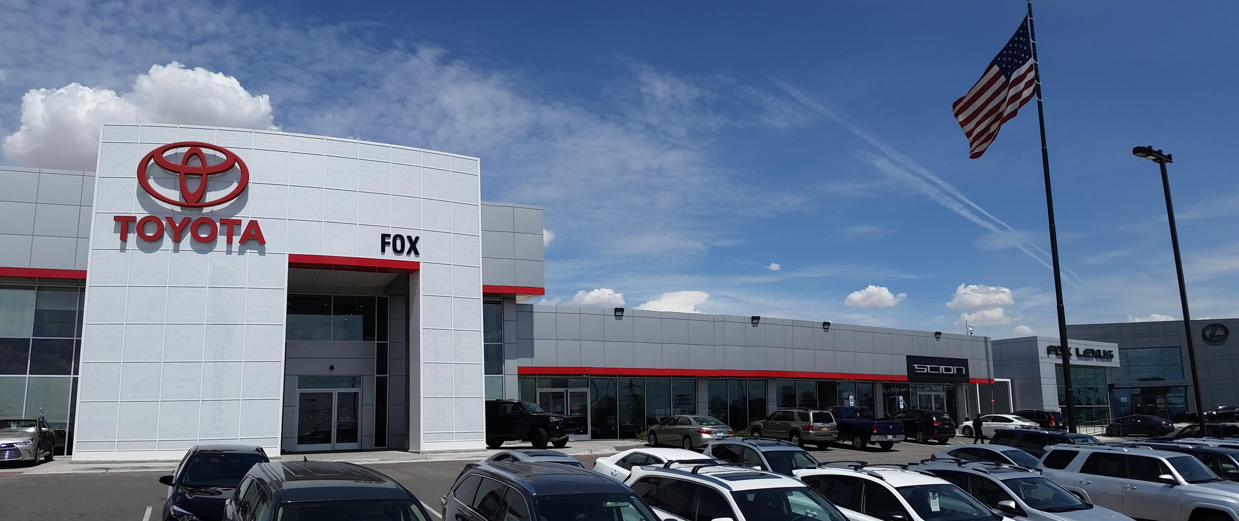 FOX Toyota of El Paso Gateway Blvd W El Paso TX YP