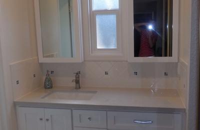 Joe Torres Cabinet Shop   Modesto, CA. Master Bath Vanity With Medicine  Cabinets And