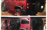 This was a H2 Hummer that we did a complete detail on. This certain vehicle we also applied acrylic resin and it made it look amazing!