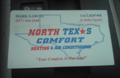 North Texas Comfort Heating & Air Conditioning - Fort Worth, TX