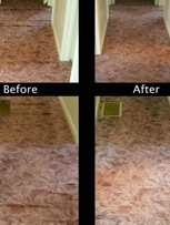 Before and After Carpet Re-stretch