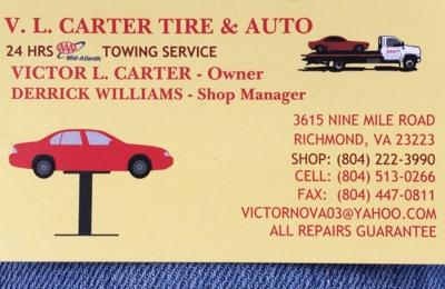 V L Carter Tire & Auto - Richmond, VA