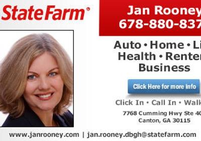 Jan Rooney State Farm Insurance Agent 7768 Cumming Hwy Ste 400 Canton Ga 30115 Yp Com