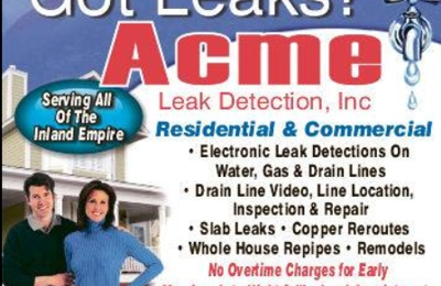 Acme Leak Detection Inc. - Riverside, CA