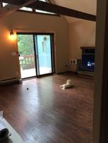After Upstairs - Laminate flooring, paint, new sliding doors