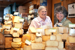 Sue Conley and Peggy Smith at Cowgirl Creamery in San Francisco, CA