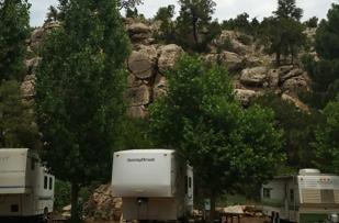 Boulders RV Park in Heber AZ got Rocked by Reidhead!! Great job!