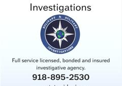 Sulivant & Sulivant Investigations - Tulsa, OK. Oklahoma Private Investigator