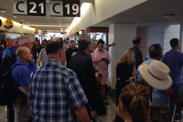 Crowded terminal C