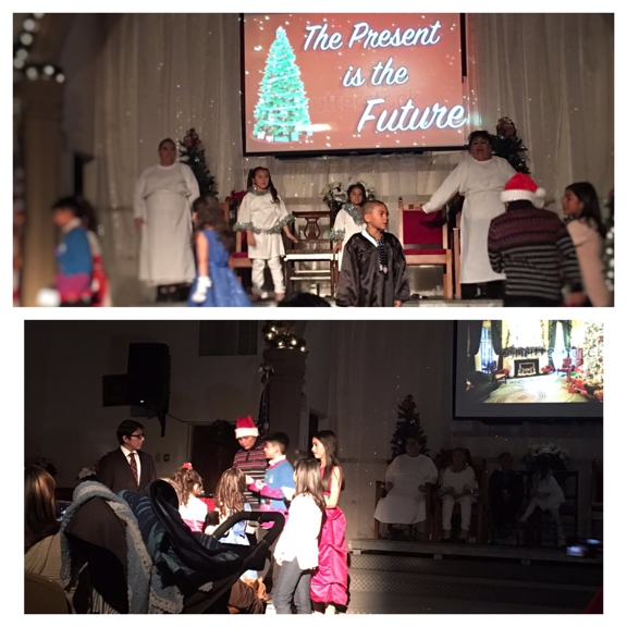 """First Southern Baptist Church of Hollywood - Los Angeles, CA. Christmas play 2016. """"The present is the future"""", free community event."""