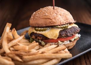Barlines burger in the Omni Nashville Hotel. Photo courtesy of Omni Nashville Hotel.