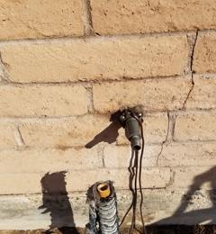 Aarow Plumbing. Leaking internally in slump block cavity