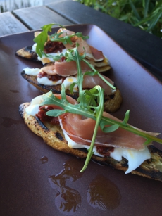 Recipe for Burrata Toasts at Americano Restaurant in San Francisco, CA