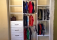 Affordable closet & more - Canyon country, CA. 5ft. Closet before. After 8ft. Hanging area, 12ft. Adjustable shelving and 5 custom drawers. https://m.facebook.com/AFFORDABLECLOSETSANDMORE