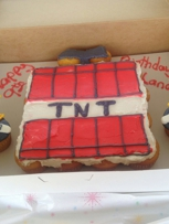 The tnt was great my 9 year old really loved it you really do a awesome job both cakes was better than what i image  ☺